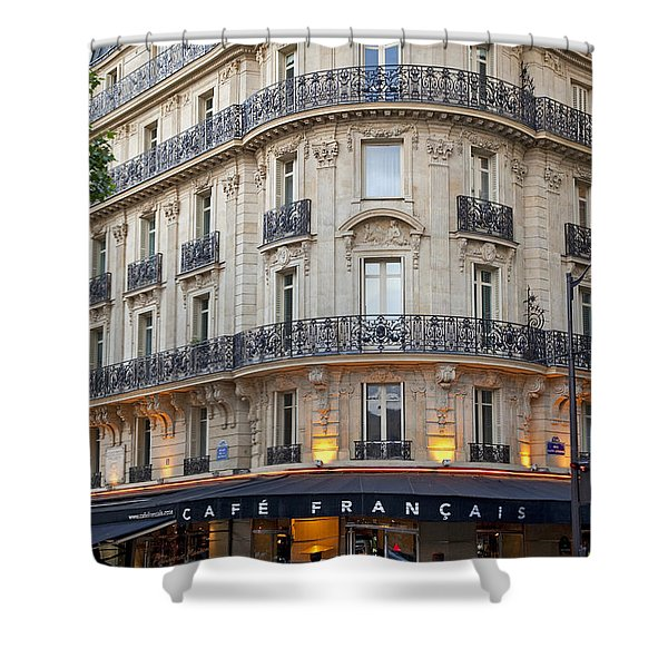 Shower Curtain featuring the photograph Cafe Francais by Brian Jannsen