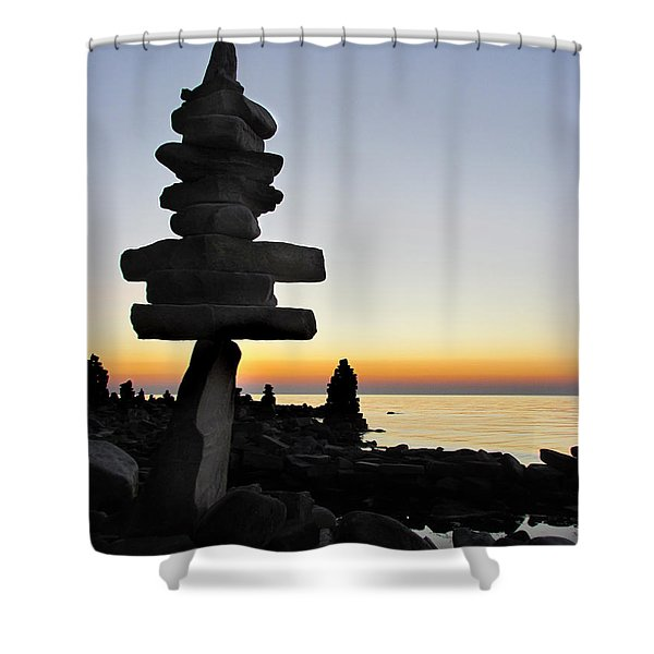 Cairns At Sunset At Door Bluff Headlands Shower Curtain