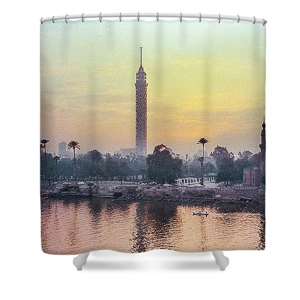Cairo And The Nile Shower Curtain