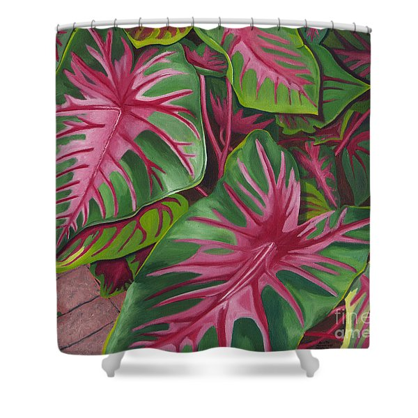 Caladiums Shower Curtain