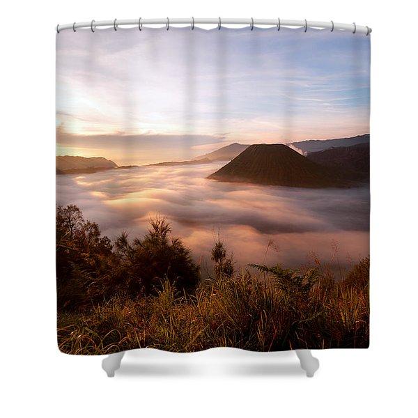 Caldera Sunrise Shower Curtain