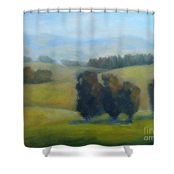 California Hills Late February Shower Curtain