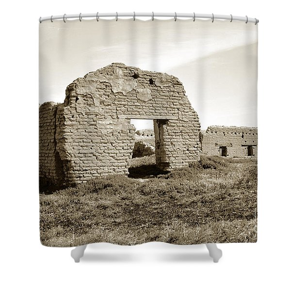 Soledad  California Mission  Monterey Co. Circa 1900 Shower Curtain
