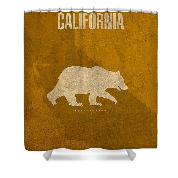 California State Facts Minimalist Movie Poster Art  Shower Curtain