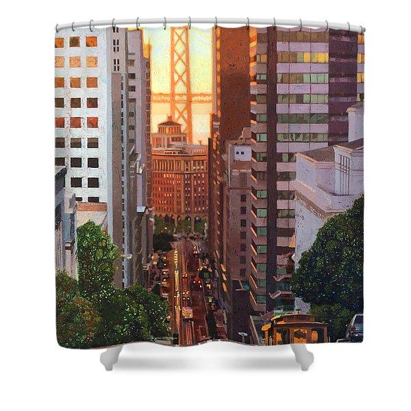 California Street View Shower Curtain