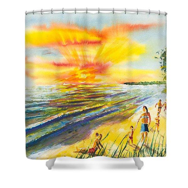 California Sunset Shower Curtain