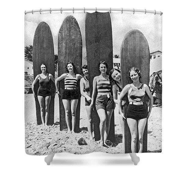 California Surfer Girls Shower Curtain