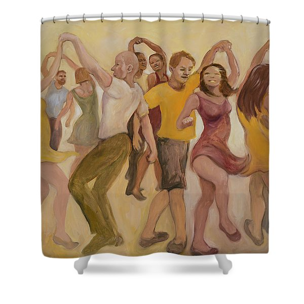 California Twirl Shower Curtain