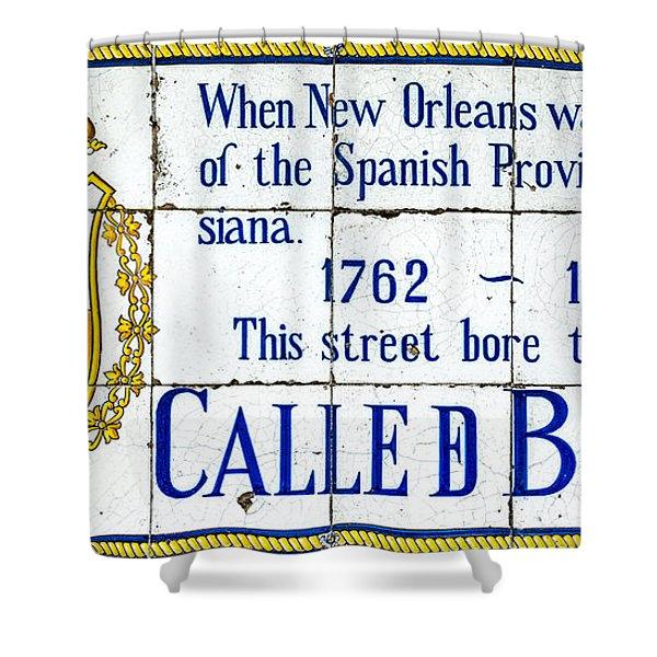 Calle D Borbon Shower Curtain