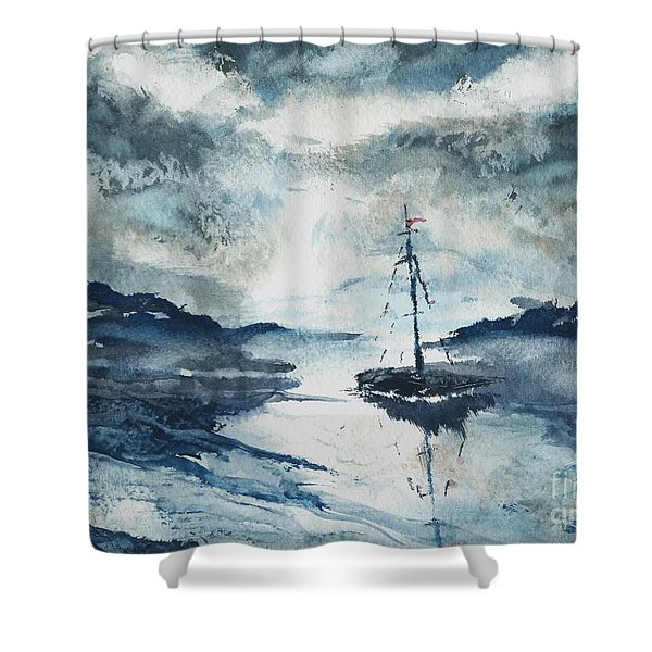 Calm Before The Storm  Shower Curtain