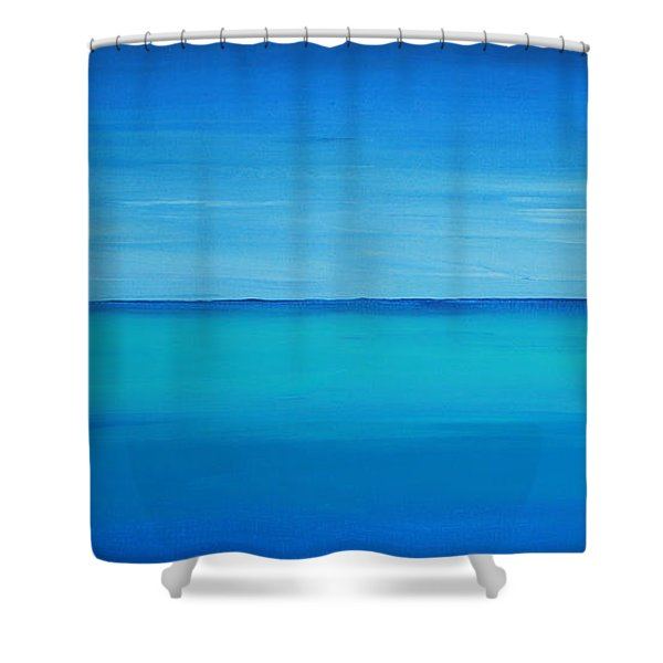 Calming Turquise Sea Part 1 Of 2 Shower Curtain