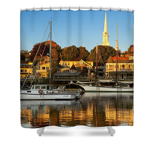 Shower Curtain featuring the photograph Camden Maine by Brian Jannsen