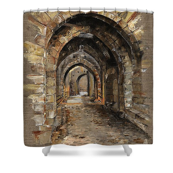 Camelot -  The Way To Ancient Times - Elena Yakubovich Shower Curtain