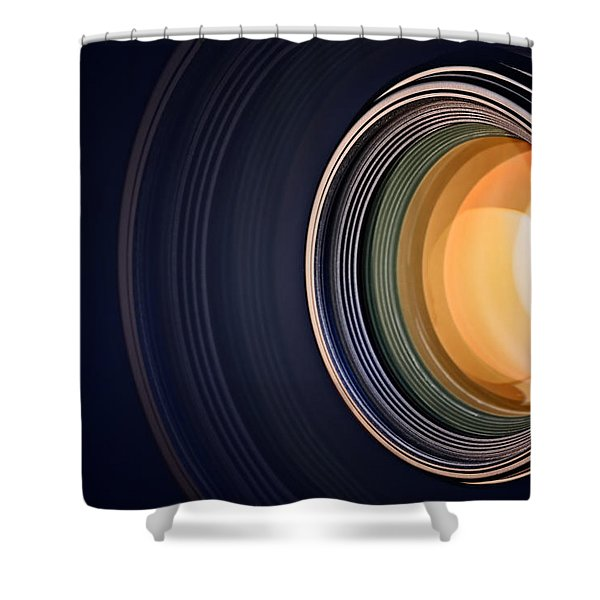 Camera Lens Background Shower Curtain
