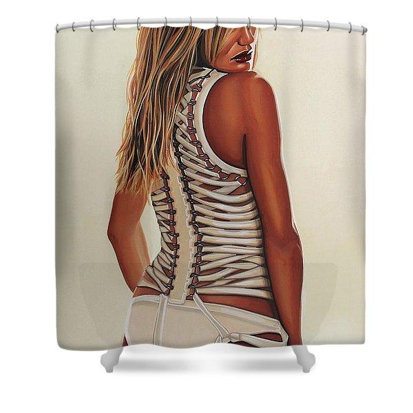 Cameron Diaz Painting Shower Curtain