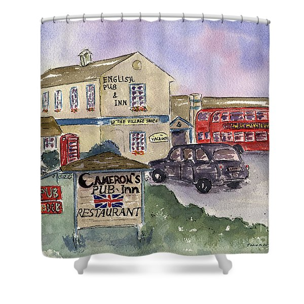 Cameron's Pub And Restaurant Shower Curtain