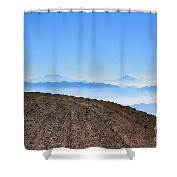 Camino En Volcan Nevado De Toluca Shower Curtain
