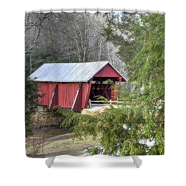 Campbell's Covered Bridge-1 Shower Curtain