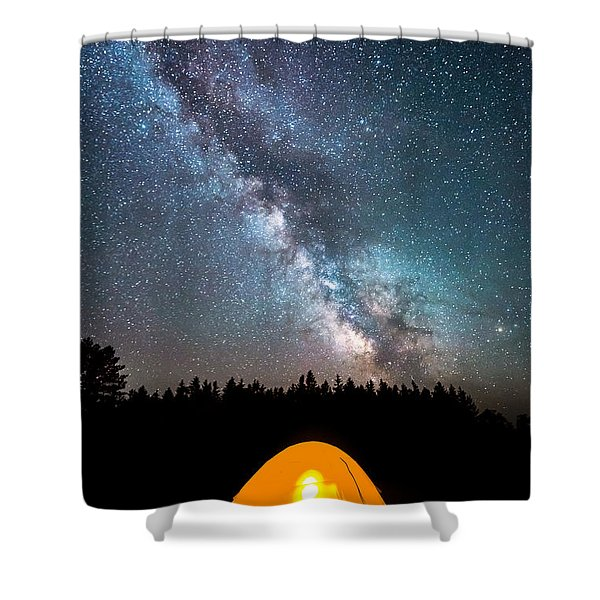 Camping Under The Stars Shower Curtain
