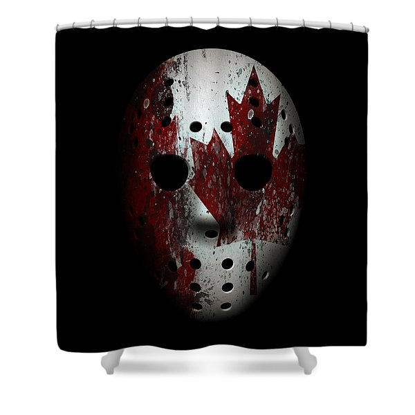 Canada Goalie Mask Shower Curtain