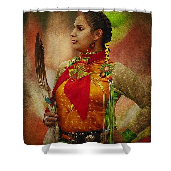 Canadian Aboriginal Woman Shower Curtain