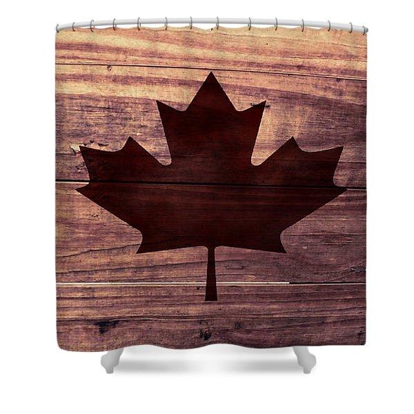 Canadian Flag I Shower Curtain