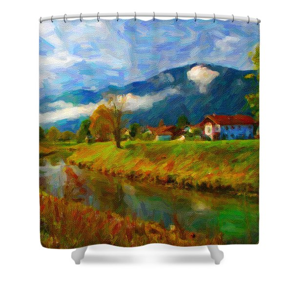 Canal 1 Shower Curtain