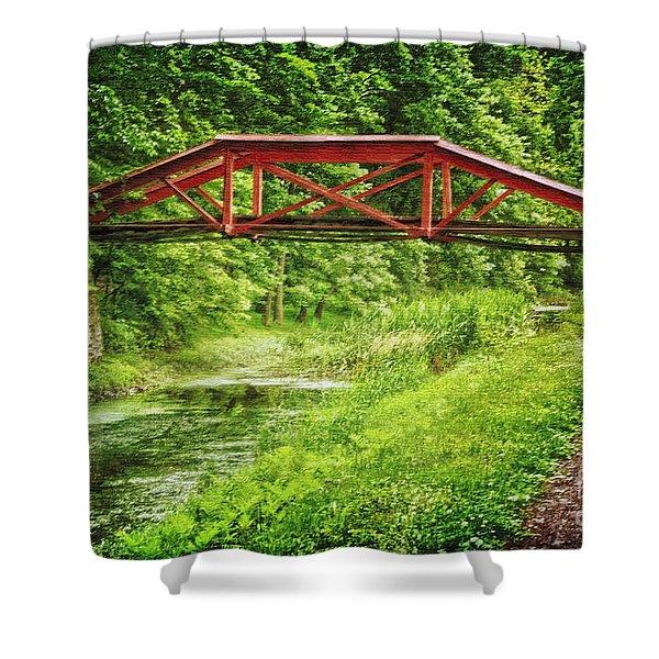 Canal Bridge Shower Curtain