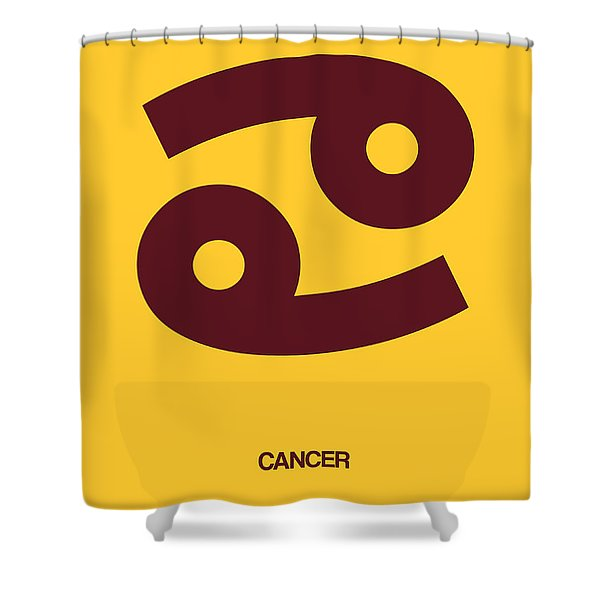 Cancer Zodiac Sign Brown Shower Curtain