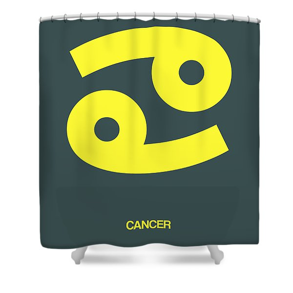 Cancer Zodiac Sign Yellow Shower Curtain