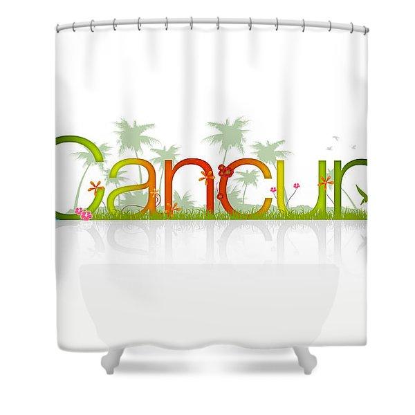 Cancun Mexico Shower Curtain