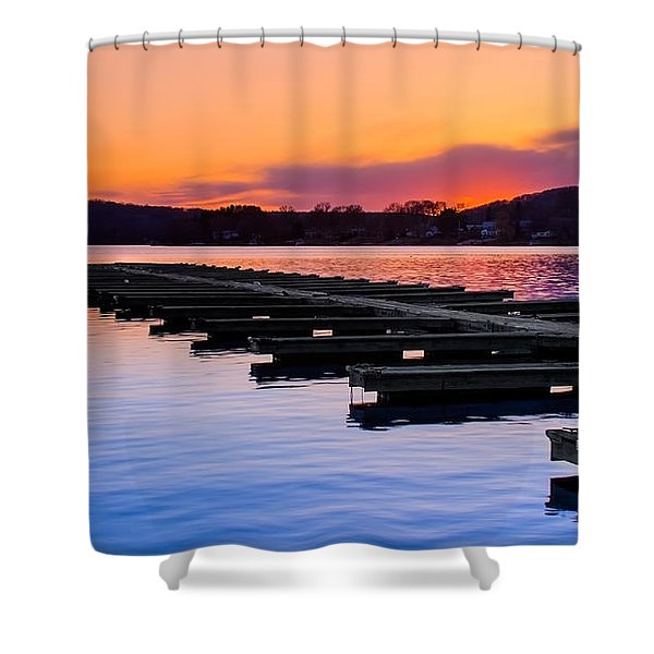 Candlewood Lake Shower Curtain