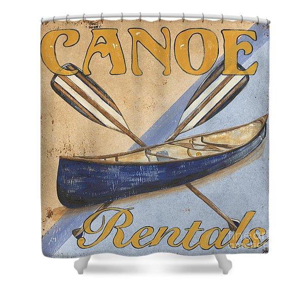 Canoe Rentals Shower Curtain