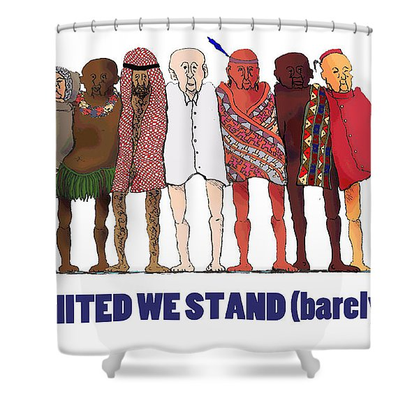 Can't We Just Get Along? Shower Curtain