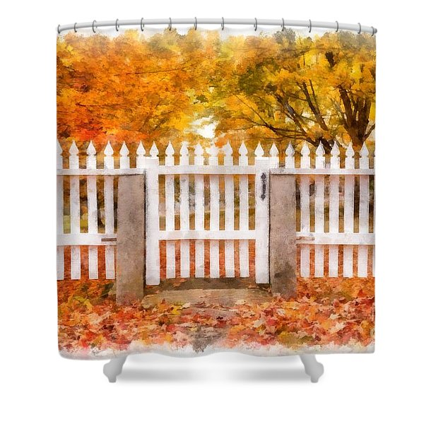 Canterbury Shaker Village Picket Fence  Shower Curtain