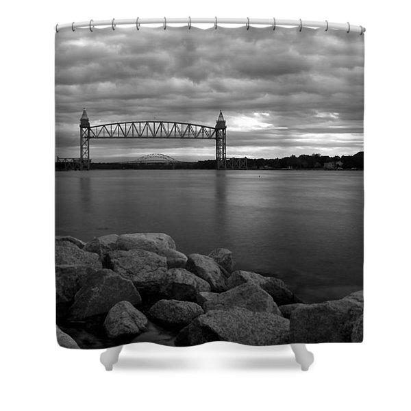 Cape Cod Canal Train Bridge Shower Curtain