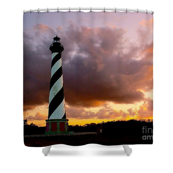 Cape Hatteras Sunset Shower Curtain