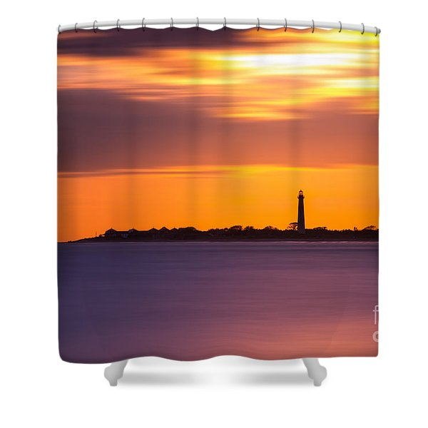 Cape May Lighthouse Long Exposure Shower Curtain