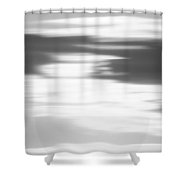 Cape May Lighthouse Vertical Long Exposure Bw Shower Curtain
