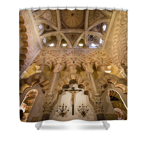 Capilla De Villaviciosa In The Great Mosque Of Cordoba Shower Curtain