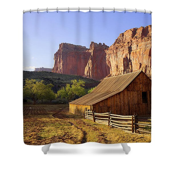Capitol Barn Shower Curtain