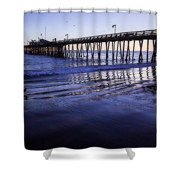 Capitola Wharf Reflections Shower Curtain