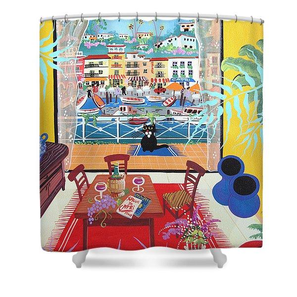 Capri, Italy, 2012 Acrylic On Canvas Shower Curtain