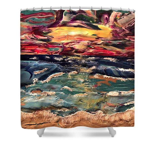 Capricious Sea Shower Curtain