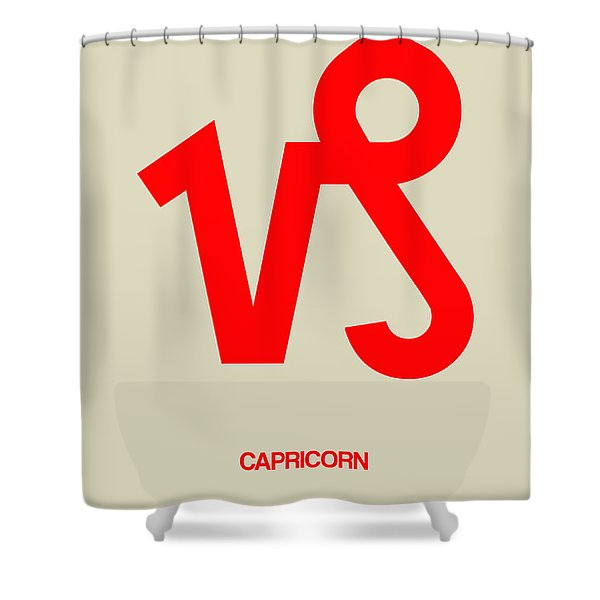 Capricorn Zodiac Sign Red Shower Curtain