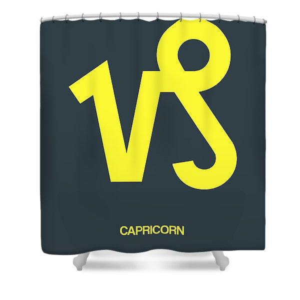 Capricorn Zodiac Sign Yellow Shower Curtain