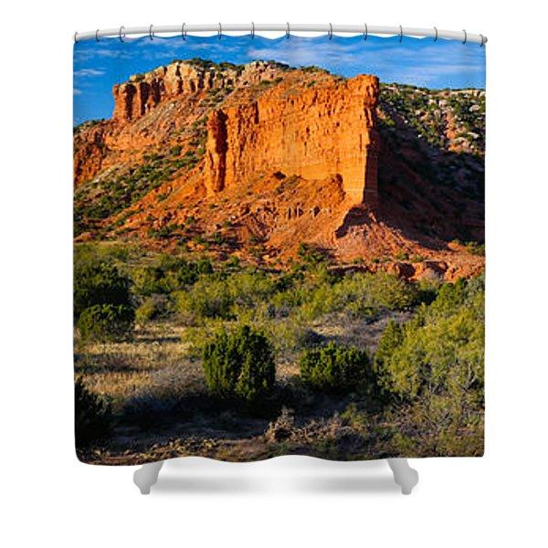 Caprock Canyons Panorama Shower Curtain