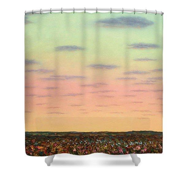 Caprock Sunrise Shower Curtain
