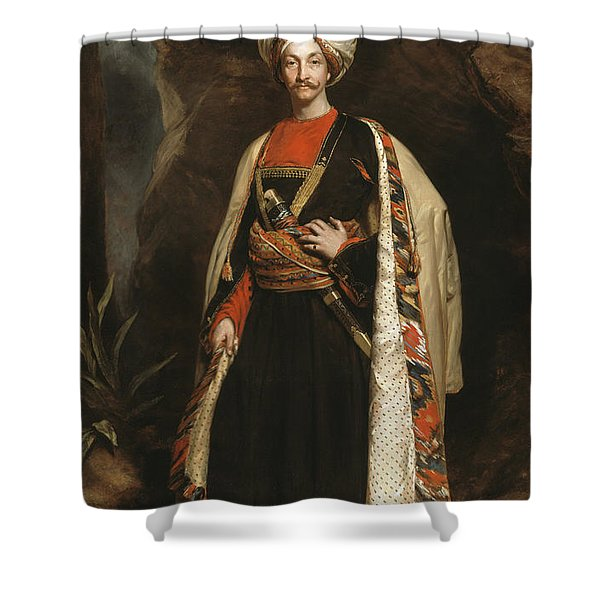 Captain Colin Mackenzie In His Afghan Shower Curtain