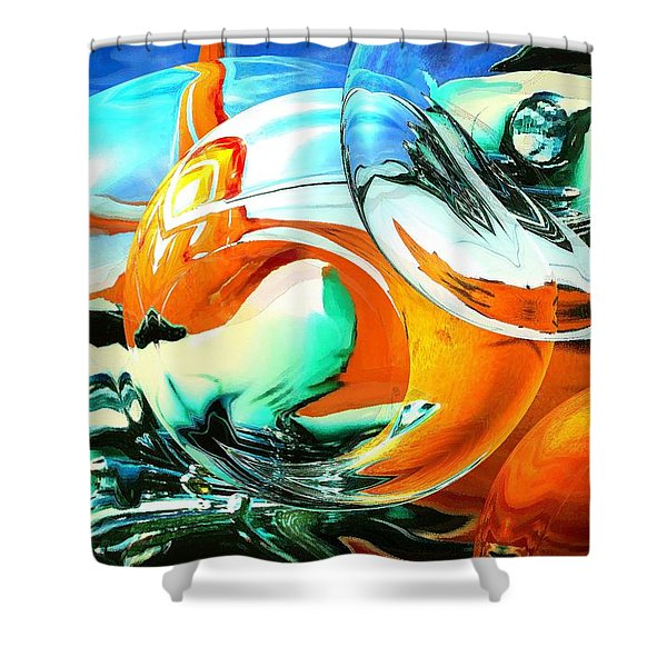 Car Fandango - Modern Art Shower Curtain